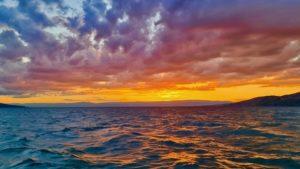 sunset on the lake Léman - Montreux