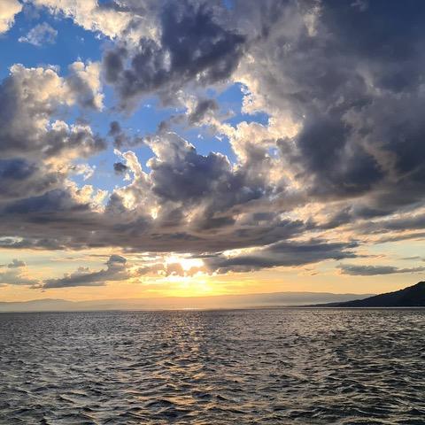 sky on Léman lake -Montreux